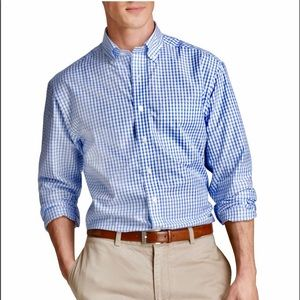 Vines Yards Checkered Button Down Murray Navy